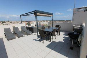 2 soveroms penthouse leilighet med solterrasse på La Zenia Beach