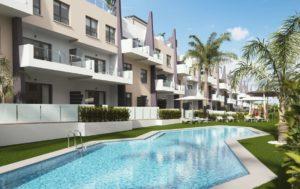 Bianca Beach, 3 soveroms lekre leiligheter i Mil Palmeras, Torre de la Horadada