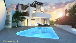 Villa Macarena 14. 3 soveroms villa rett ved golfbanen La Marquesa i Rojales
