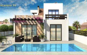 Villa Macarena 16, 3 soveroms flott villa i rekke, rett ved golfbanen La Marquesa i Rojales