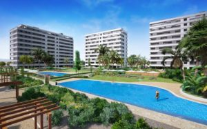 Panorama Mar, 3 soveroms leiligheter PÅ stranden i Punta Prima, Torrevieja