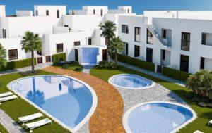 Residencial Nova, 3 soveroms leiligheter i flott anlegg 500m fra stranden i Torre de la Horadada
