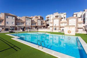 Villa Mediterraneo, 3 soveroms rekkehus i stort kompleks nær strand, Santa Pola