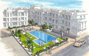 Amay Las Cibeles, 1 soveroms leilighet nær strand og midt i Torrevieja