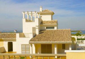Villas La Isla - Duna, 3 soveroms villa på stor tomt og fabelaktig beliggenhet på La Manga