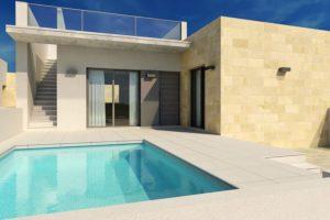 Novomar 4, 3 soveroms Villa i rekke i Daya Vieja med eget basseng