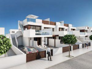 Residencial Nova II, 3 soveroms Penthouse Leiligheter i flott kompleks kun 300m fra stranden i Torre de la Horadada