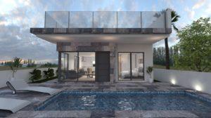 Pink Paradise Infinity, 4 soveroms Villa med takterrasse, basseng og kjeller i Villamartin